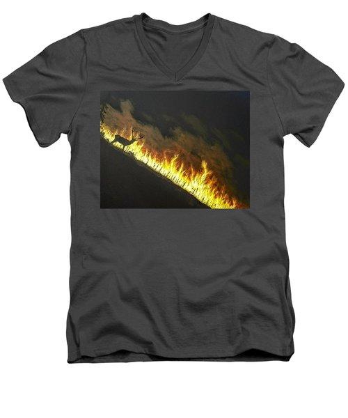 Last Look Back Home Men's V-Neck T-Shirt