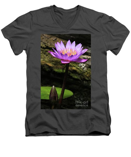 Lavender Water Lily #4 Men's V-Neck T-Shirt