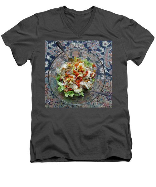 Men's V-Neck T-Shirt featuring the photograph Lets Do Lunch by Joel Deutsch