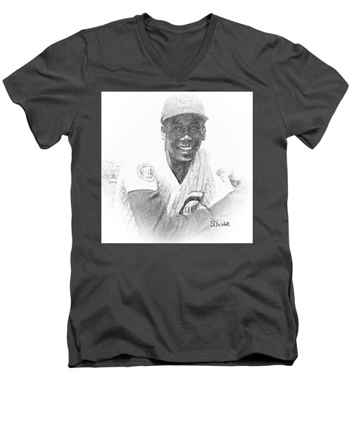 Ernie Banks Men's V-Neck T-Shirt