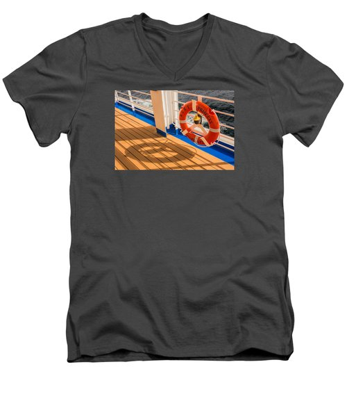 Men's V-Neck T-Shirt featuring the photograph Life Saver by Lewis Mann