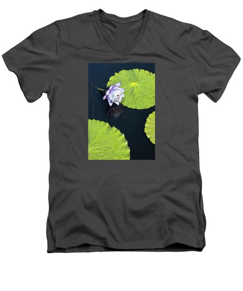 Men's V-Neck T-Shirt featuring the photograph Lily Love by Suzanne Gaff