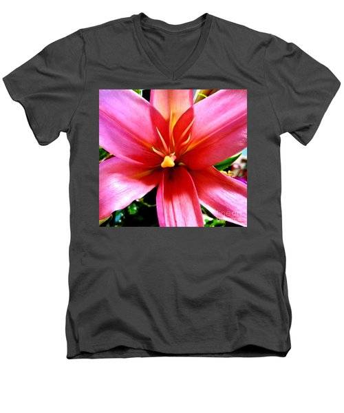 Lily Men's V-Neck T-Shirt by Tim Townsend