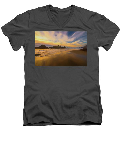 Lines In The Sand 2 Men's V-Neck T-Shirt