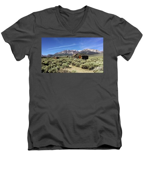Little House Men's V-Neck T-Shirt by Joseph G Holland