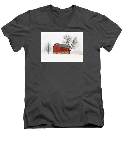 Little Red Barn Men's V-Neck T-Shirt