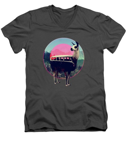 Llama Men's V-Neck T-Shirt