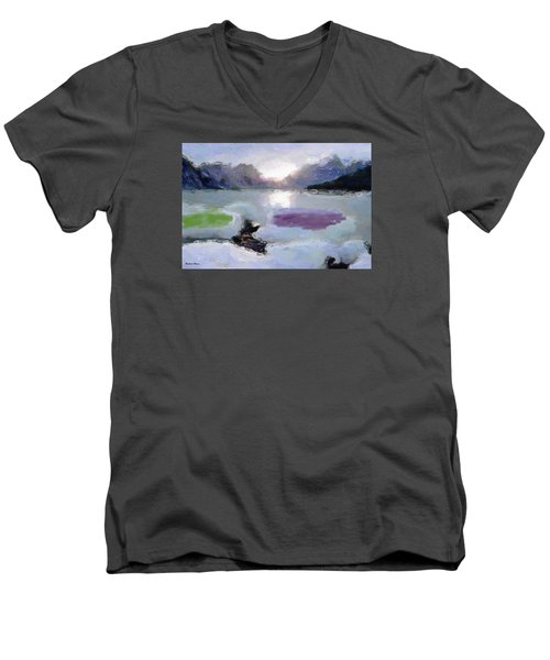 Looking Out Into The Bay Men's V-Neck T-Shirt