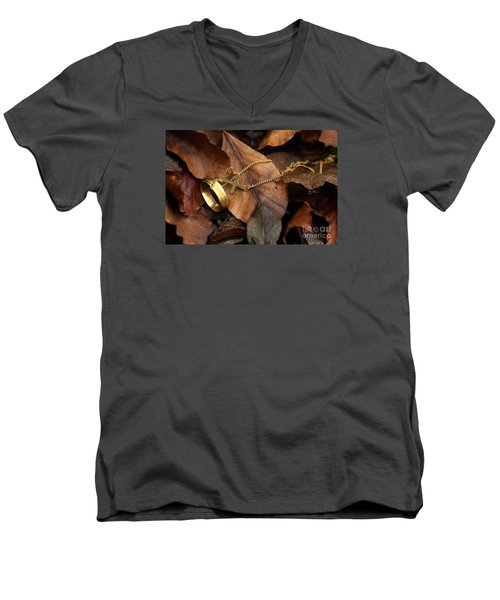 Men's V-Neck T-Shirt featuring the photograph Lost  by Gary Bridger
