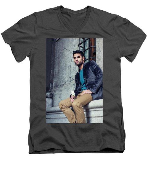 Lost Rose Men's V-Neck T-Shirt