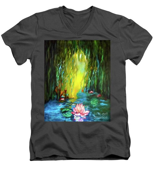 Lotus And Lily Pads Men's V-Neck T-Shirt
