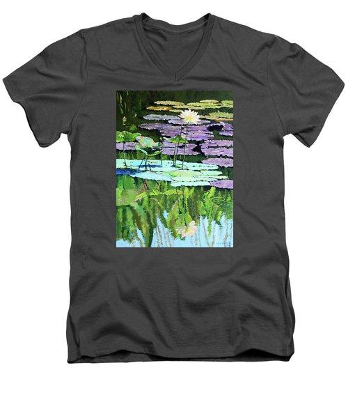 Lotus Reflections Men's V-Neck T-Shirt