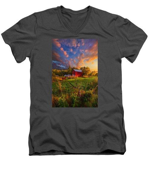 Love's Pure Light Men's V-Neck T-Shirt by Phil Koch
