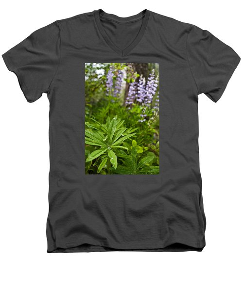 Lupine Leaf Men's V-Neck T-Shirt