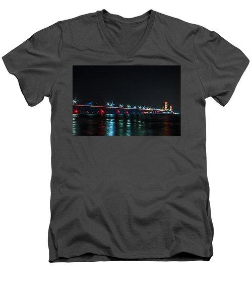Mackinac Bridge  Men's V-Neck T-Shirt