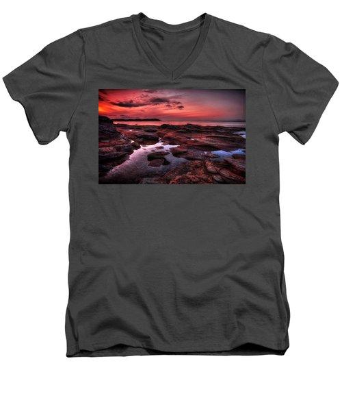 Madrona Men's V-Neck T-Shirt by Randy Hall