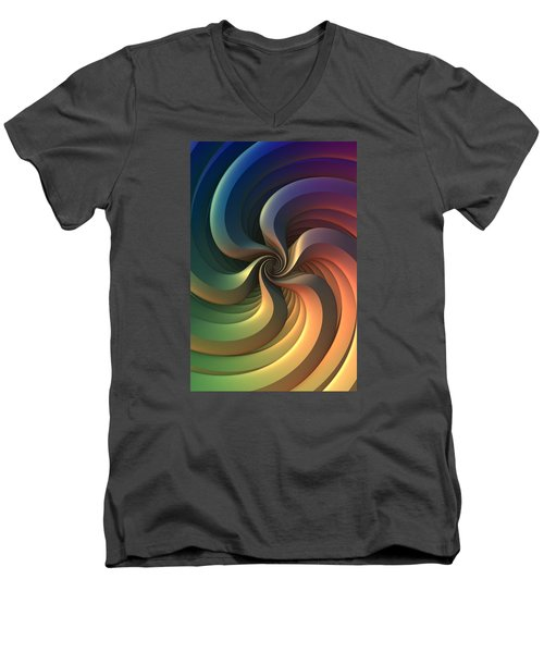 Men's V-Neck T-Shirt featuring the digital art Maelstrom by Lyle Hatch