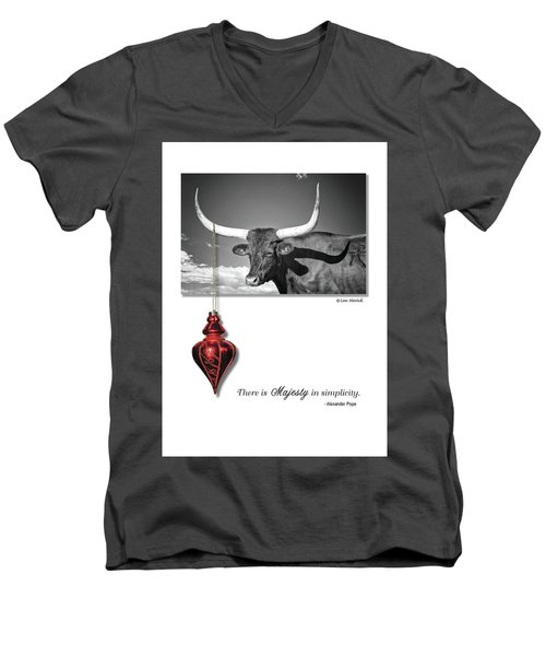 Majesty In Simplicity Men's V-Neck T-Shirt