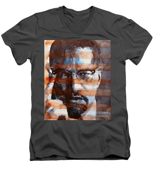 Malcolmx Men's V-Neck T-Shirt