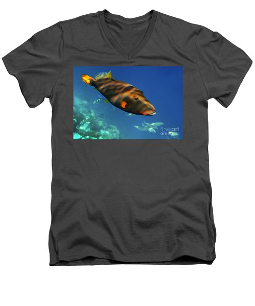 Men's V-Neck T-Shirt featuring the photograph Maldives by Juergen Held