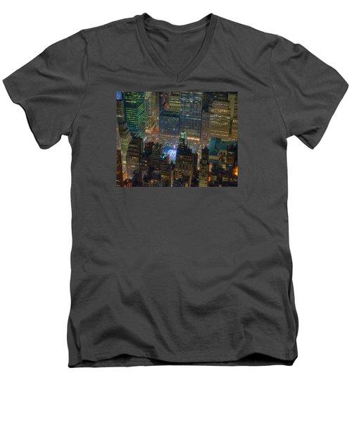 Manhattan Skyline 274 Men's V-Neck T-Shirt