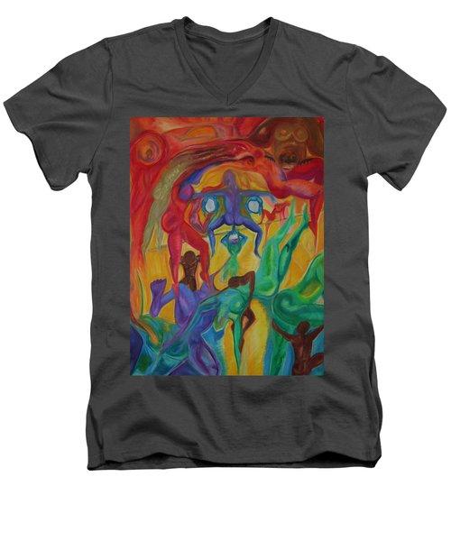 Mann I The Middle Men's V-Neck T-Shirt
