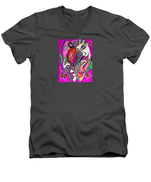 Many Faces Men's V-Neck T-Shirt