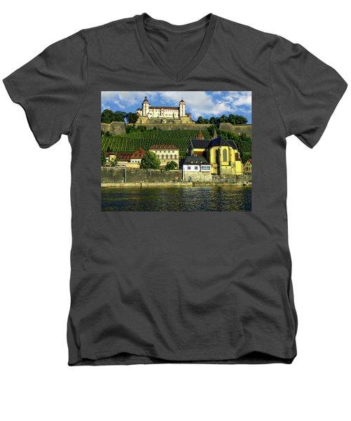Marienberg Fortress Men's V-Neck T-Shirt