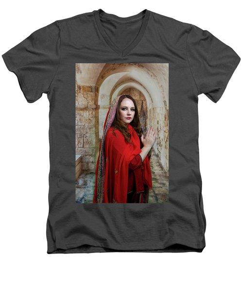 Mary Magdalene Men's V-Neck T-Shirt by David Clanton