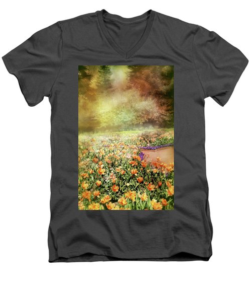 Men's V-Neck T-Shirt featuring the photograph Masquerade by Diana Angstadt