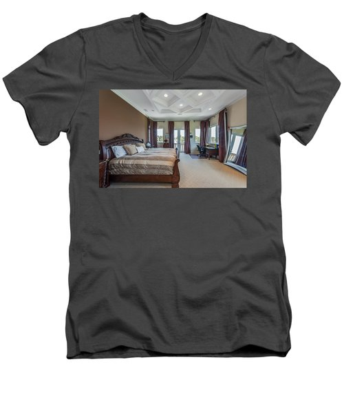 Master Bedroom Men's V-Neck T-Shirt