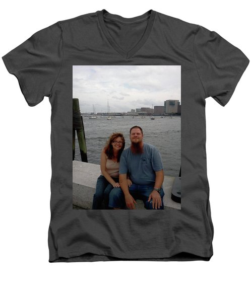 Men's V-Neck T-Shirt featuring the photograph me by Richie Montgomery