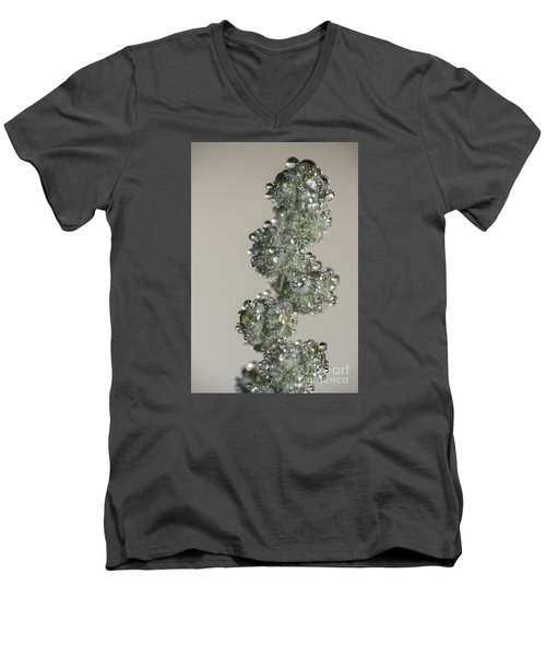 Meadow Flower And Drops Men's V-Neck T-Shirt by Odon Czintos