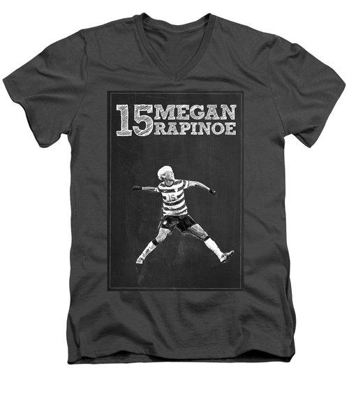 Megan Rapinoe Men's V-Neck T-Shirt by Semih Yurdabak