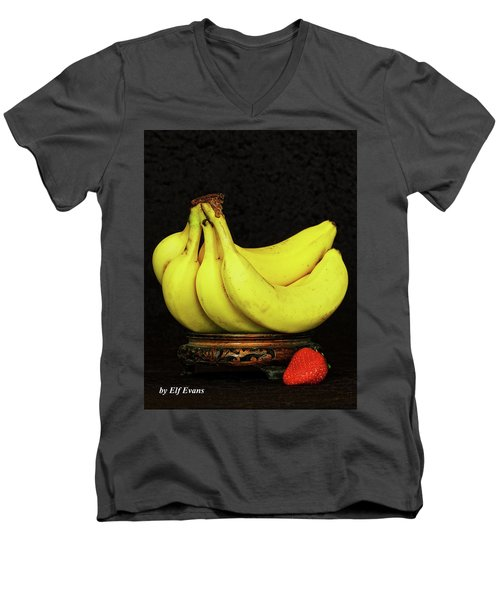 Men's V-Neck T-Shirt featuring the photograph Mellow Yellows And Red by Elf Evans