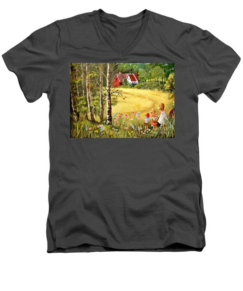 Memories For Mom Men's V-Neck T-Shirt by Marilyn Smith