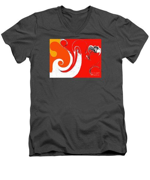 Liquid Wonders Men's V-Neck T-Shirt by Fei A