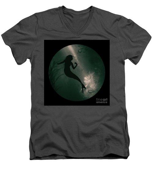 Mermaid Deep Underwater Men's V-Neck T-Shirt