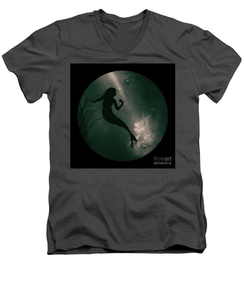 Mermaid Deep Underwater Men's V-Neck T-Shirt