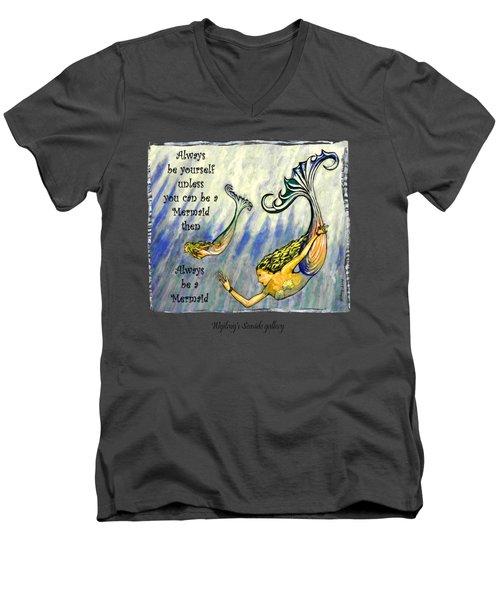 Mermaid Men's V-Neck T-Shirt