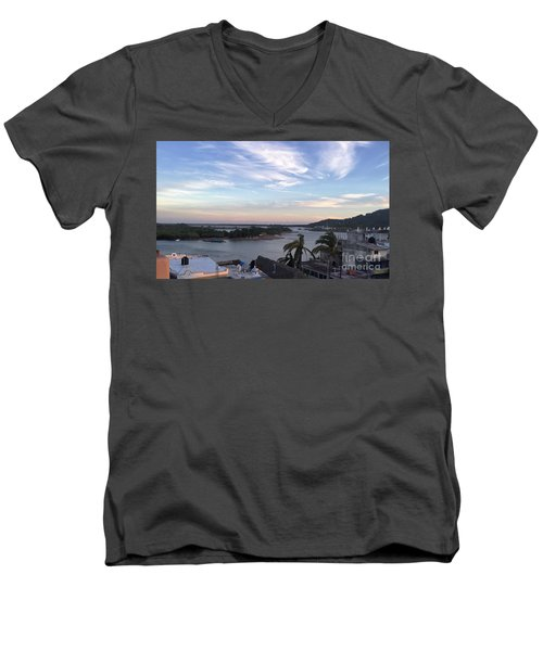 Men's V-Neck T-Shirt featuring the photograph Mexico Memories by Victor K