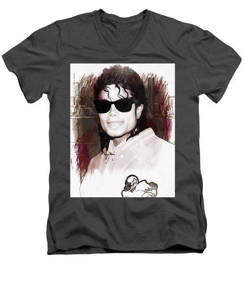 Michael Jackson Men's V-Neck T-Shirt