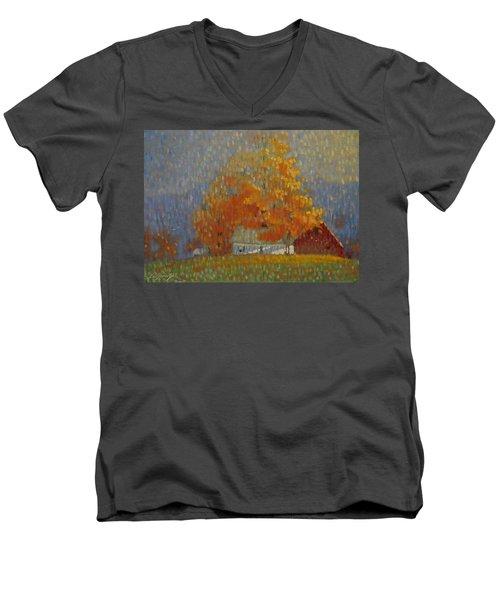 Middle Farm Foliage Men's V-Neck T-Shirt