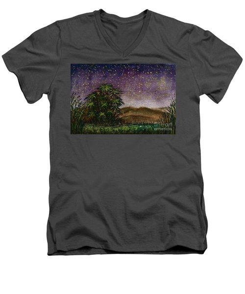 Midnight At The Oasis Men's V-Neck T-Shirt