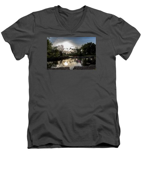 Midwest Sunset Men's V-Neck T-Shirt