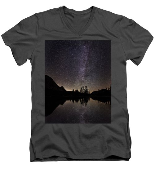 Mirror Lake Milky Way Men's V-Neck T-Shirt