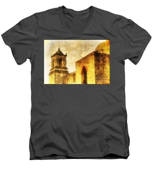 Mission San Jose San Antonio, Texas Men's V-Neck T-Shirt