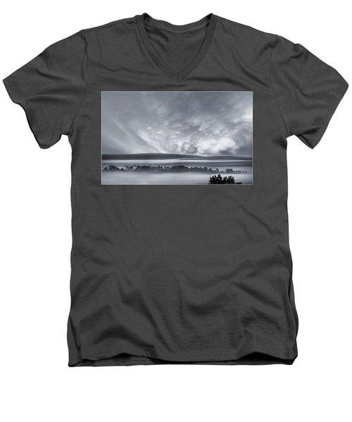 Misty Morning Men's V-Neck T-Shirt by Vladimir Kholostykh