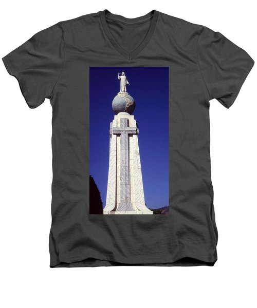 Monumento Al Divino Salvador Del Mundo Men's V-Neck T-Shirt by Juergen Weiss