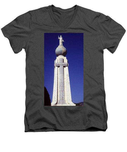 Monumento Al Divino Salvador Del Mundo Men's V-Neck T-Shirt
